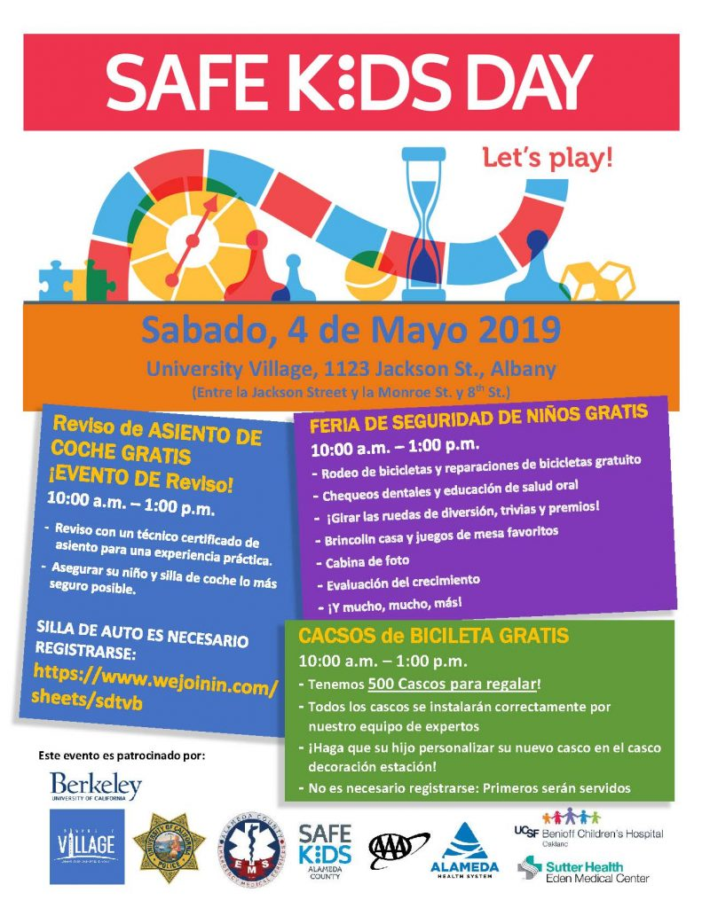 Safe Kids Day Flyer 2019 in SPANISH