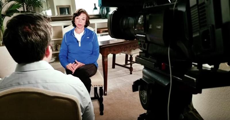 Stephanie L Mann being interviewed about starting the 'neighborhood watch' program