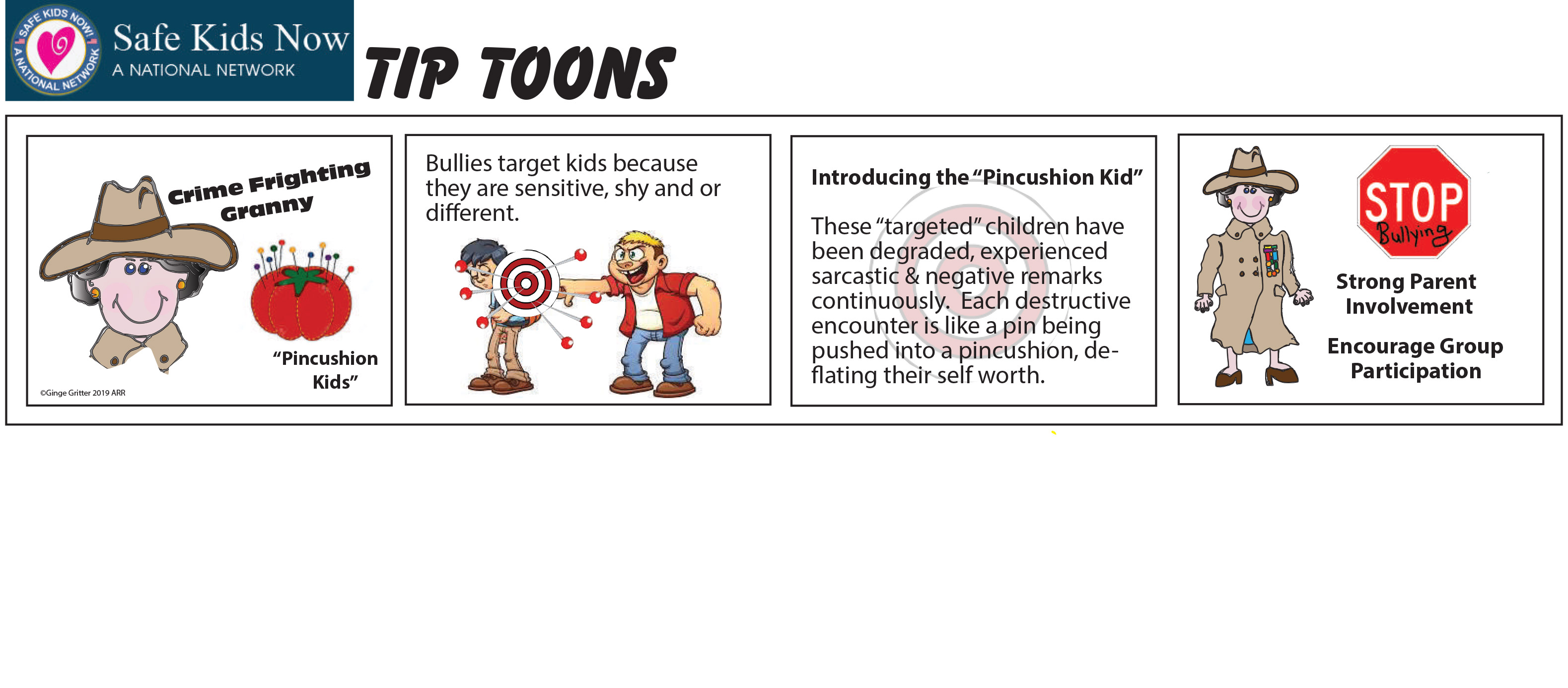 Tip Toon Comic Strip about Pincushion Kids