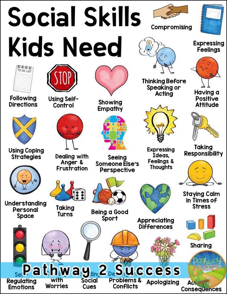 A list of social skills kids need