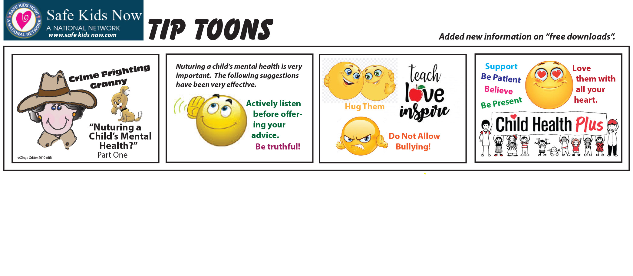 Mental Health Kids Tip Toons